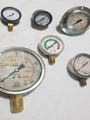 درجه فشار رنج های مختلف ، خشک و روغنی